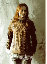 Angelica, DK Knitting Pattern for Cabled Tunic | Erika Knight Blue 100