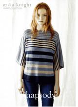 Rhapsody, Stripey T shirt Knitting Pattern | Erika Knight Studio Linen
