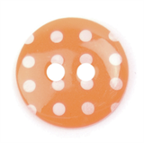 Spotty Buttons 15 mm | Orange & White