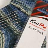 KnitPro Karbonz Double Pointed Knitting Needles / Pins   20 cm Long, set of 5 - Main Image