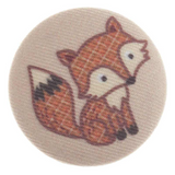 Woodland Fox Buttons | 34 mm | Trimits Loose Buttons