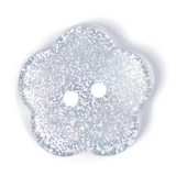Clear Sparkly Flower Buttons | 24mm | ABC Loose Buttons