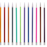 KnitPro Zing Metal Knitting Needles | Single Point | 35cm Long - Main Image