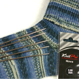 KnitPro Nova Double Pointed Metal Needles | Set of 5 | 20 cm Long - With Socks