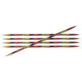 KnitPro Symfonie Double Pointed Wooden Needles | Set of 5 | 10 cm Long - Main Image