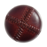 Leather Look Stitched Buttons | 28mm | Red Brown | Trimits