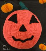 Robin DK Pumpkin Cushion Freen Downloadable Knitting Pattern   Robin DK Yarn - Main Image
