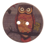 Wooden Owl Buttons | Various Sizes - Main image