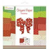 Avenue Mandarine | Origami Paper | Christmas Collection 2 | 20 x 20cm, Approx 60 pcs - Main Image