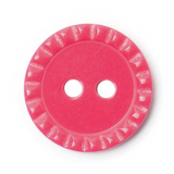 Serrated Edged Buttons 15mm - Pink