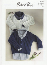 DK Pattern for Cardigan and V Neck Sweater| Peter Pan DK P1319