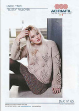 "Knitting Pattern for a Knitted Lace Sweater | Adriafil Unico ""Elista"""