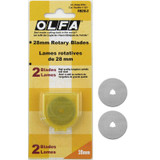Olfa Rotary Cutter Blades, 28mm | Pack of 2 Blades - Main Image