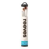 Reeves Brush Canister | 4 Hog Bristle Oil Brushes | Short Handled