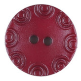 Dill Buttons | Burgundy with little circular edge | 13mm