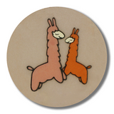 Dill Buttons | Lovely Llamas | 15mm | Brown