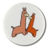 Dill Buttons | Lovely Llamas | 15mm | White