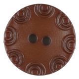 Dill Buttons | Brown with little circular edge | 13 mm
