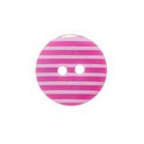 Pretty Pink Striped Button   15mm