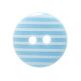 Light Blue Striped Button   15mm   Trimits Loose Buttons