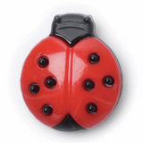 Ladybird Buttons | 18 mm | Red