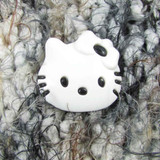 Hello Kitty Buttons   28 mm   White with Black
