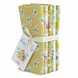 Tilda | Apple Butter | Fat Quarter Bundle | 5pcs | Yellow/White - Main image