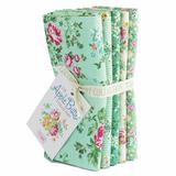 Tilda | Apple Butter | Fat Quarter Bundle | 5 Piece | Teal & Green - Main image