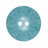 Light Blue Etched Floral Buttons | 22 mm / 34 lignes | Trimits (G439734/15)