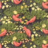 Dandi Annie | Robin Pickens | Moda Fabrics | 48631-12 | Little Birds - Charcoal