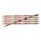 KnitPro Symfonie Double Pointed Wooden Needles | Set of 6 | 10 cm Long