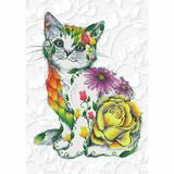 Diamond Dotz   Diamond Painting Kit   Flower Puss
