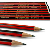Staedtler Tradition Wooden Pencil (Red & Black) - 6B - 4H