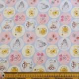 Pooh Everyday Circles Fabric   Nutex - Main Image
