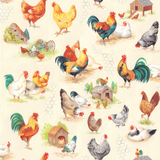 Chicken Talk | Nutex UK Limited | 800801 | Scenic, Cream - Main image