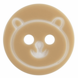 Cream Teddy Bear Face Button | 13mm | Trimits