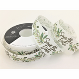 Berisfords | Save the Date Vine Ribbon | 25mm | Half Metre Lengths