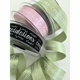 Berisfords | With Congratulations Ribbon | 25mm | Half Metre Lengths