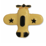 Airplane Shank Button | 18mm | Yellow/Black | Trimits