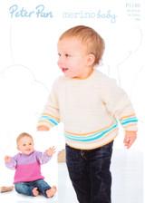 Raglan Sweaters DK Pattern | Peter Pan Merino Baby DK 1180