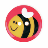 Bumble Bee Circular Buttons|25mm|2 holes
