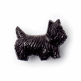 Black Scottie Dog Buttons|17mm|