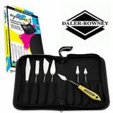 Daler Rowney System 3 Palette Knife Set in Canvas Zip Case, 7 Piece Set -  Main Image