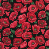 Poppies | Nutex UK Limited | 800605 | Blossom, Black