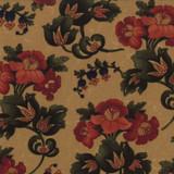 Token of Friendship   Kansas Troubles   Moda Fabrics   9430-11 Tan Floral Gathered Blooms