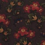 Token of Friendship   Kansas Troubles   Moda Fabrics   9430-16 Purple Floral Gathered Blooms