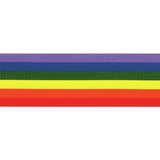 Berisfords | Rainbow Ribbon | Half Metre Lengths | Various Widths - Main Image