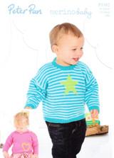 Motif Sweaters DK Pattern | Peter Pan Merino Baby DK 1182