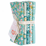 Tilda | Lazy Days | Fat Quarter Bundle | 5pcs | Teal