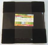 Bella Solids | Moda Fabrics | Black | Layer Cake - Main image